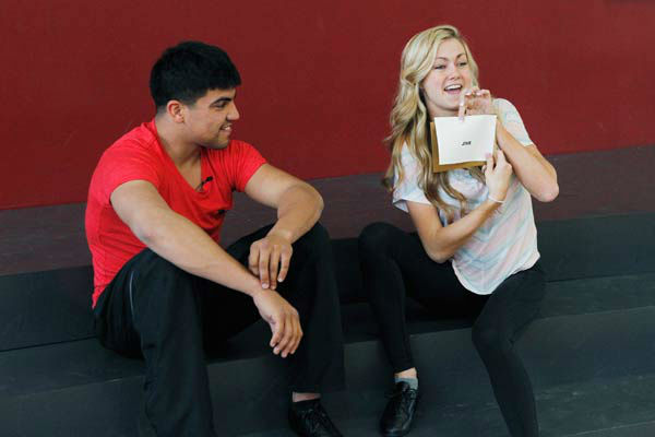 &#39;Dancing With The Stars&#39; season 16 cast members Victor Ortiz and partner Lindsay Arnold rehearse ahead of the premiere on March 18, 2013. <span class=meta>(ABC Photo&#47; Rick Rowell)</span>