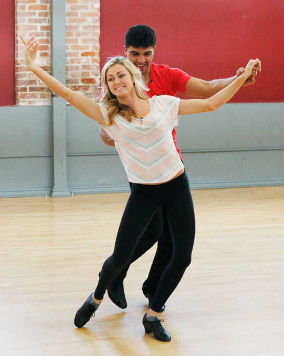 "<div class=""meta ""><span class=""caption-text "">'Dancing With The Stars' season 16 cast members Victor Ortiz and partner Lindsay Arnold rehearse ahead of the premiere on March 18, 2013. (ABC Photo/ Rick Rowell)</span></div>"