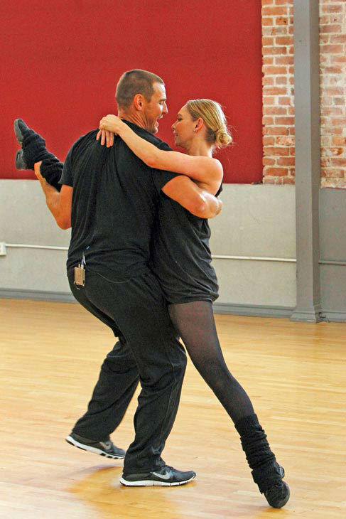 'Dancing With The Stars' season 16 cast members Ingo Rademacher and partner Kym Johnson rehearse ahead of the premiere on March 18, 2013.