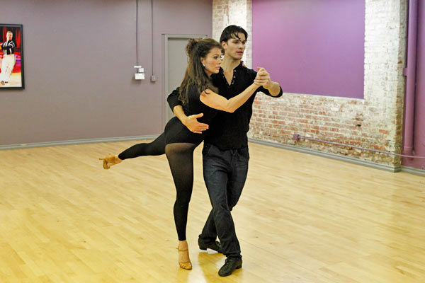 'Dancing With The Stars' season 16 cast members Lisa Vanderpump and partner Gleb Savchenko rehearse ahead of the premiere on March 18, 2013.