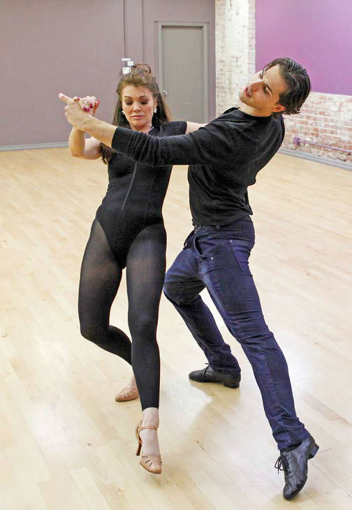 'Dancing With The Stars' season 16 cast members Lisa Vanderpump and partner Gleb Savchenko rehearse ahead of t