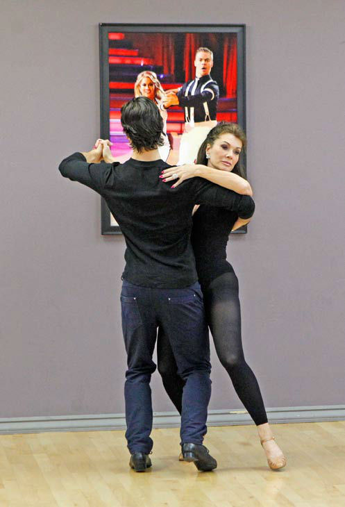 'Dancing With The Stars' season 16 cast members Lisa Vanderpump and partner Gleb Savchenko rehearse ahead of the premiere o