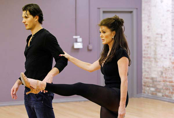 'Dancing With The Stars' season 16 cast members Lisa Vanderpump and partner Gleb Savchenko rehearse ahead of the premiere on