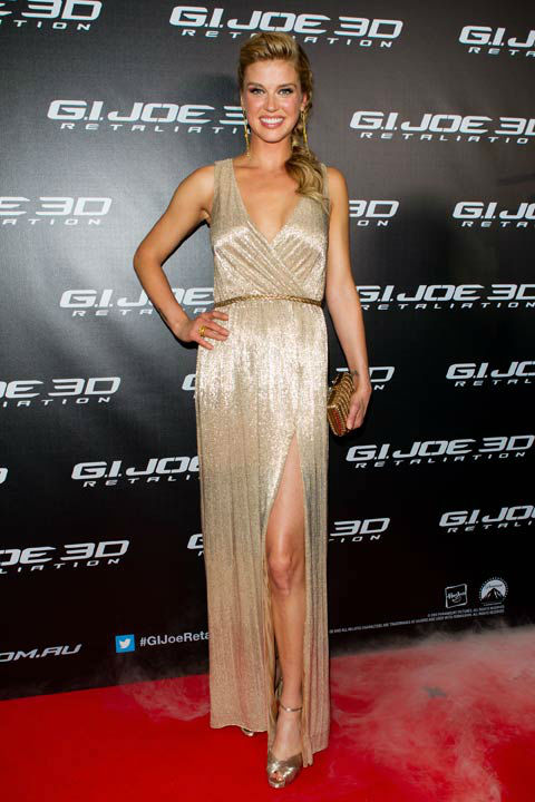 Adrianne Palicki arrives at 'G.I.Joe: Retaliation' Australian premiere at Event Cinemas George Street on March 14, 2013 in Sydney, Australia.