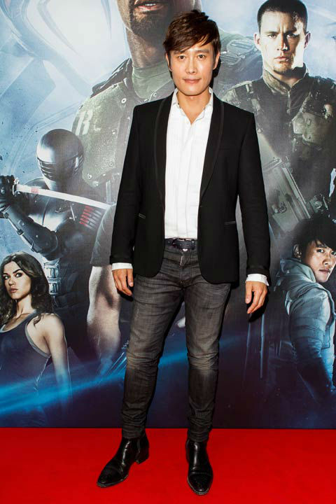 Byung-Hun Lee arrives at 'G.I.Joe: Retaliation'...