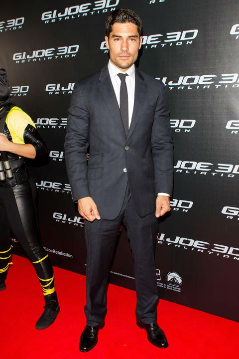 DJ Cotrona arrives at 'G.I.Joe: Retaliation'...
