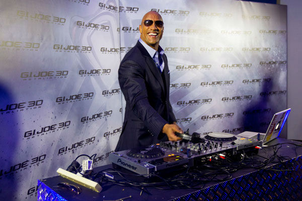 "<div class=""meta ""><span class=""caption-text "">Dwayne Johnson arrives at 'G.I.Joe: Retaliation' Australian premiere at Event Cinemas George Street on March 14, 2013 in Sydney, Australia. (Caroline McCredie / Getty Images for Paramount Pictures)</span></div>"
