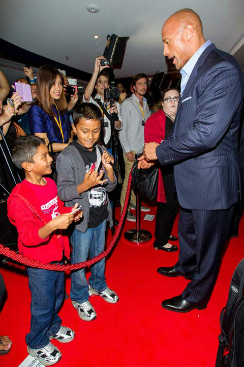 Dwayne Johnson arrives at 'G.I.Joe: Retaliation'...