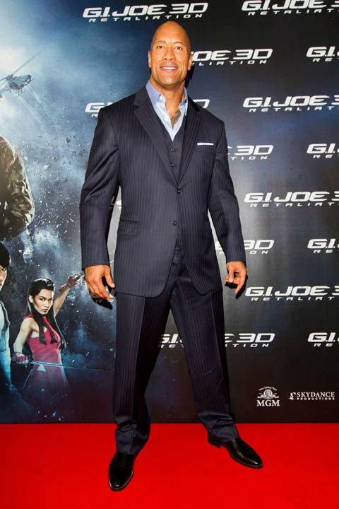 Dwayne Johnson arrives at 'G.I.Joe:...