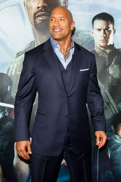 "<div class=""meta image-caption""><div class=""origin-logo origin-image ""><span></span></div><span class=""caption-text"">Dwayne Johnson arrives at 'G.I.Joe: Retaliation' Australian premiere at Event Cinemas George Street on March 14, 2013 in Sydney, Australia. (Caroline McCredie / Getty Images for Paramount Pictures)</span></div>"