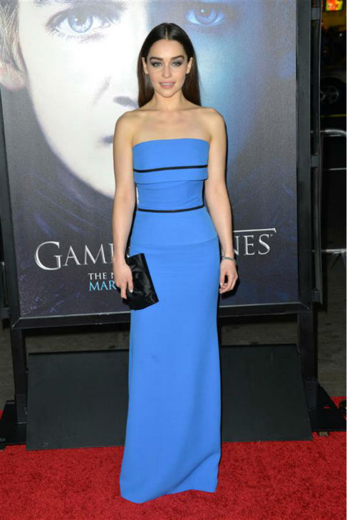"<div class=""meta ""><span class=""caption-text "">Emilia Clarke (Daenerys Targaryen on 'Game Of Thrones') appears at a 'Game of Thrones' season 3 press conference with co-star Kit Harington )Jon Snow) at the Four Seasons hotel in Beverly Hills, California on March 18, 2013.  (Munawar Hosain / Startraksphoto.com)</span></div>"