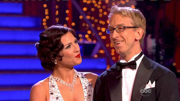 Actor and comedian Andy Dick and his partner Sharna Burgess received 17 out of 30 points from the judges for their Foxtrot routine on the season premiere of &#39;Dancing With The Stars,&#39; which aired on March 18, 2013 <span class=meta>(ABC Photo)</span>