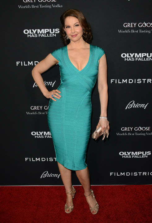 Ashley Judd arrives at the LA premiere of 'Olympus Has Fallen' at the ArcLight Theatre on Monday, March 18, 2013 in Los Angeles.