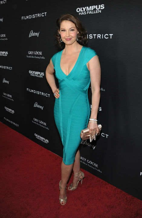 Ashley Judd arrives at the LA premiere of...