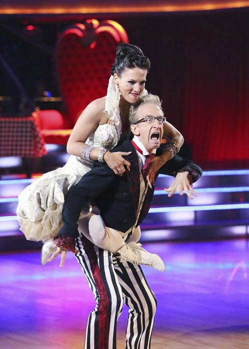 Actor and comedian Andy Dick and his partner Sharna Burgess received 20 out of 30 points from the judges for their Jazz routine on week 2 of &#39;Dancing With The Stars,&#39; which aired on March 25, 2013. They received a total of 37 out of 60 points for the past two weeks of performances. <span class=meta>(ABC Photo &#47; Adam Taylor)</span>