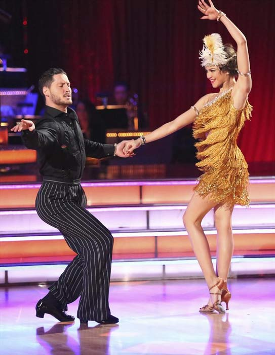 "<div class=""meta image-caption""><div class=""origin-logo origin-image ""><span></span></div><span class=""caption-text"">'Shake It Up' actress Zendaya Coleman and her partner Val Chmerkovskiy received received 26 out of 30 points from the judges for their Jive routine on week 2 of 'Dancing With The Stars,' which aired on March 25, 2013. They received a total of 50 out of 60 points for the past two weeks of performances.  (ABC Photo)</span></div>"
