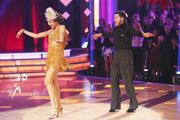 "<div class=""meta ""><span class=""caption-text "">'Shake It Up' actress Zendaya Coleman and her partner Val Chmerkovskiy received received 26 out of 30 points from the judges for their Jive routine on week 2 of 'Dancing With The Stars,' which aired on March 25, 2013. They received a total of 50 out of 60 points for the past two weeks of performances.  (ABC Photo)</span></div>"