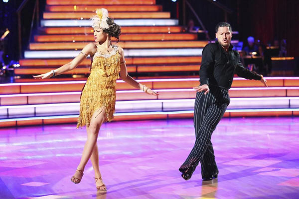 'Shake It Up' actress Zendaya Coleman and her partner Val Chmerkovskiy dance on week 2 of 'Dancing With The Stars,' which aired on March 25, 2013.