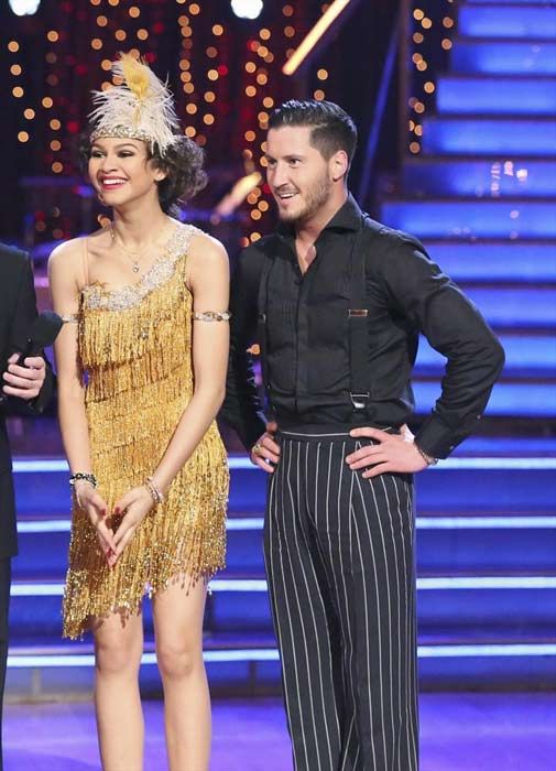 "<div class=""meta ""><span class=""caption-text "">'Shake It Up' actress Zendaya Coleman and her partner Val Chmerkovskiy received 26 out of 30 points from the judges for their Jive routine on week 2 of 'Dancing With The Stars,' which aired on March 25, 2013. They received a total of 50 out of 60 points for the past two weeks of performances.  (ABC Photo / Adam Taylor)</span></div>"