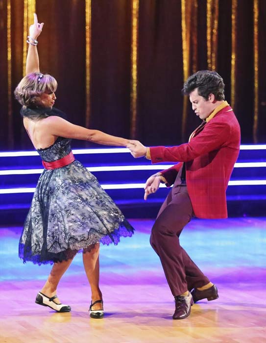 "<div class=""meta image-caption""><div class=""origin-logo origin-image ""><span></span></div><span class=""caption-text"">Olympic figure skater Dorothy Hamill and her partner Tristan Macmanus received 15 out of 30 points from the judges for their Jive routine on week 2 of 'Dancing With The Stars,' which aired on March 25, 2013. They received a total of 36 out of 60 points for the past two weeks of performances. (ABC Photo)</span></div>"