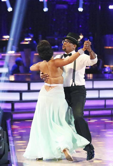 Actor and comedian D.L. Hughley and his partner Cheryl Burke received 16 out of 30 points from the judges for their Quickstep routine on week 2 of &#39;Dancing With The Stars,&#39; which aired on March 25, 2013. They received a total of 28 out of 60 points for the past two weeks of performances. <span class=meta>(ABC Photo &#47; Adam Taylor)</span>