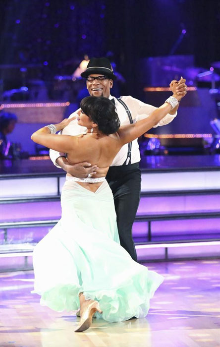 "<div class=""meta ""><span class=""caption-text "">Actor and comedian D.L. Hughley and his partner Cheryl Burke received 16 out of 30 points from the judges for their Quickstep routine on week 2 of 'Dancing With The Stars,' which aired on March 25, 2013. They received a total of 28 out of 60 points for the past two weeks of performances. (ABC Photo / Adam Taylor)</span></div>"