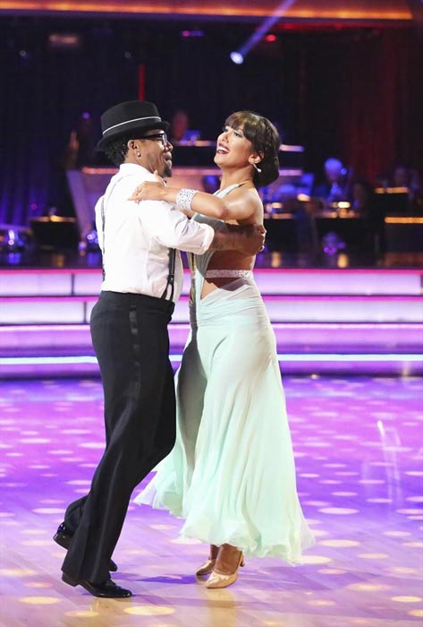 "<div class=""meta image-caption""><div class=""origin-logo origin-image ""><span></span></div><span class=""caption-text"">Actor and comedian D.L. Hughley and his partner Cheryl Burke received 16 out of 30 points from the judges for their Quickstep routine on week 2 of 'Dancing With The Stars,' which aired on March 25, 2013. They received a total of 28 out of 60 points for the past two weeks of performances. (ABC Photo / Adam Taylor)</span></div>"