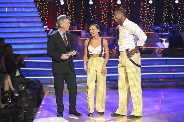 "<div class=""meta ""><span class=""caption-text "">NFL star Jacoby Jones and his partner Karina Smirnoff received 23 out of 30 points from the judges for their Jazz routine on week 2 of 'Dancing With The Stars,' which aired on March 25, 2013. They received a total of 43 out of 60 points for the past two weeks of performances. (ABC Photo)</span></div>"