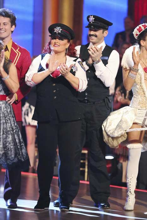 "<div class=""meta ""><span class=""caption-text "">Singer Wynonna Judd and her partner Tony Dovolani prepare to dance on week 2 of 'Dancing With The Stars,' which aired on March 25, 2013. (ABC Photo / Adam Taylor)</span></div>"