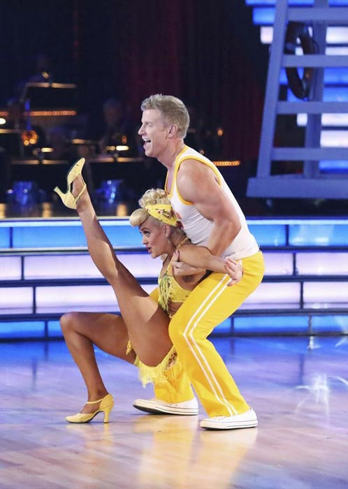 Former 'Bachelor' star Sean Lowe and his partner Peta Murgatroyd dance on week 2 of 'Dancing With The Stars,' which aired on March 25, 2013.