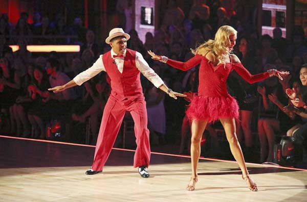 "<div class=""meta ""><span class=""caption-text "">Boxer Victor Ortiz and his partner Lindsay Arnold received 18 out of 30 points from the judges for their Jive routine on week 2 of 'Dancing With The Stars,' which aired on March 25, 2013. They received a total of 36 out of 60 points for the past two weeks of performances. (ABC Photo / Adam Taylor)</span></div>"