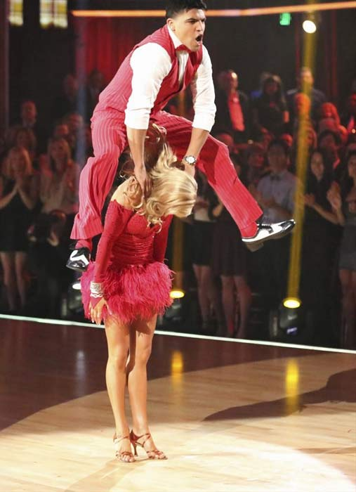 Boxer Victor Ortiz and his partner Lindsay Arnold received 18 out of 30 points from the judges for their Jive routine on week 2 of &#39;Dancing With The Stars,&#39; which aired on March 25, 2013. They received a total of 36 out of 60 points for the past two weeks of performances. <span class=meta>(ABC Photo &#47; Adam Taylor)</span>