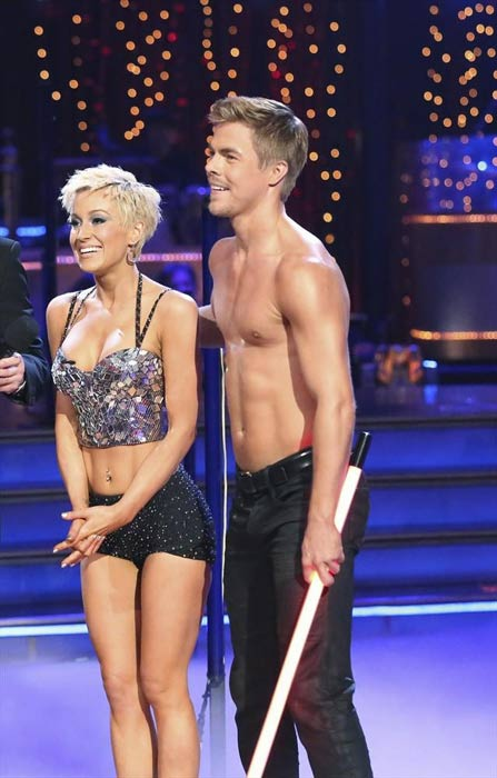Singer and former 'American Idol' contestant Kellie Pickler and her partner Derek Hough appear on week 2 of 'Dancing With The Stars,' which aired on March 25, 2013.