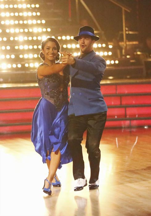 "<div class=""meta image-caption""><div class=""origin-logo origin-image ""><span></span></div><span class=""caption-text"">Olympic gold medalist and gymnast Aly Raisman and her partner Mark Ballas received 24 out of 30 points from the judges for their Quickstep routine on week 2 of 'Dancing With The Stars,' which aired on March 25, 2013. They received a total of 45 out of 60 points for the past two weeks of performances. (ABC Photo / Adam Taylor)</span></div>"
