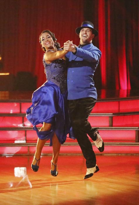"<div class=""meta ""><span class=""caption-text "">Olympic gold medalist and gymnast Aly Raisman and her partner Mark Ballas received 24 out of 30 points from the judges for their Quickstep routine on week 2 of 'Dancing With The Stars,' which aired on March 25, 2013. They received a total of 45 out of 60 points for the past two weeks of performances. (ABC Photo / Adam Taylor)</span></div>"