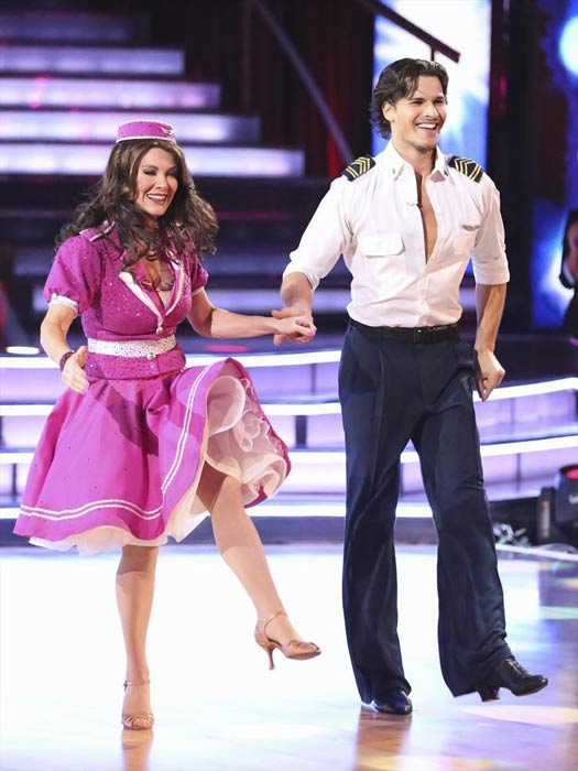 &#39;Real Housewives of Beverly Hills&#39; star Lisa Vanderpump and her partner Gleb Savchenko received 18 out of 30 points from the judges for their Jive routine on week 2 of &#39;Dancing With The Stars,&#39; which aired on March 25, 2013. They received a total of 36 out of 60 points for the past two weeks of performances. <span class=meta>(ABC Photo &#47; Adam Taylor)</span>
