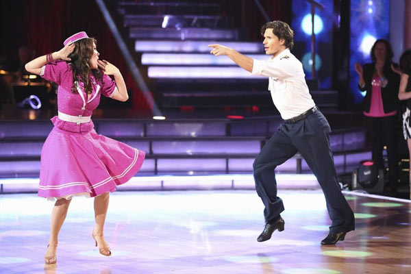 "<div class=""meta image-caption""><div class=""origin-logo origin-image ""><span></span></div><span class=""caption-text"">'Real Housewives of Beverly Hills' star Lisa Vanderpump and her partner Gleb Savchenko received 18 out of 30 points from the judges for their Jive routine on week 2 of 'Dancing With The Stars,' which aired on March 25, 2013. They received a total of 36 out of 60 points for the past two weeks of performances. (ABC Photo / Adam Taylor)</span></div>"