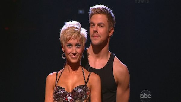 "<div class=""meta ""><span class=""caption-text "">Singer and former 'American Idol' contestant Kellie Pickler and her partner Derek Hough appear on the first results show for 'Dancing With The Stars' season 16, which aired on March 26, 2013. They received a total of 47 out of 60 points for the past two weeks of performances.  (ABC Photo / Adam Taylor)</span></div>"