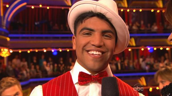 "<div class=""meta ""><span class=""caption-text "">Boxer Victor Ortiz and his partner Lindsay Arnold appear on the first results show for 'Dancing With The Stars' season 16, which aired on March 26, 2013. They had received a total of 36 out of 60 points for the past two weeks of performances. (ABC Photo / Adam Taylor)</span></div>"