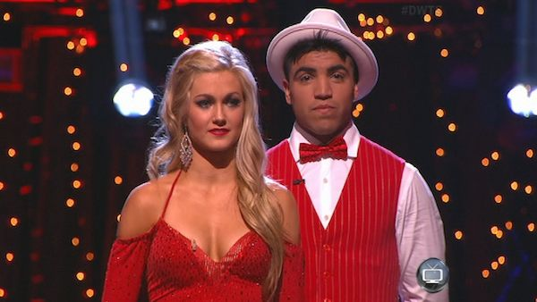 "<div class=""meta image-caption""><div class=""origin-logo origin-image ""><span></span></div><span class=""caption-text"">Boxer Victor Ortiz and his partner Lindsay Arnold appear on the first results show for 'Dancing With The Stars' season 16, which aired on March 26, 2013. They had received a total of 36 out of 60 points for the past two weeks of performances. (ABC Photo / Adam Taylor)</span></div>"