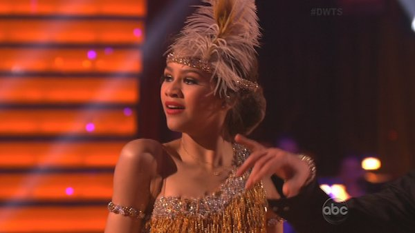 "<div class=""meta ""><span class=""caption-text "">'Shake It Up' actress Zendaya Coleman and her partner Val Chmerkovskiy dance on the first results show for 'Dancing With The Stars' season 16, which aired on March 26, 2013. They had received a total of 50 out of 60 points for the past two weeks of performances.  (ABC Photo / Adam Taylor)</span></div>"