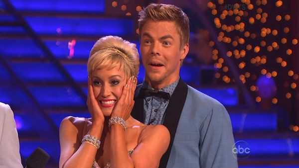 Singer and former &#39;American Idol&#39; contestant Kellie Pickler and her partner Derek Hough received 25 out of 30 points from the judges for their Jive on the season premiere of &#39;Dancing With The Stars,&#39; which aired on April 1, 2013. <span class=meta>(ABC Photo)</span>