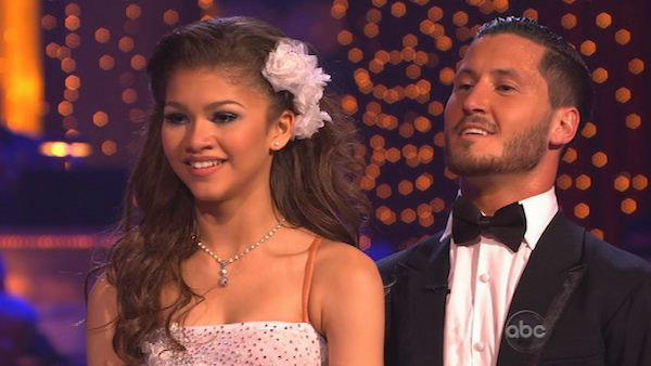 'Shake It Up' actress Zendaya Coleman and her partner Val Chmerkovskiy appear in a still from 'Dancing With The Stars' on April 1, 2013.