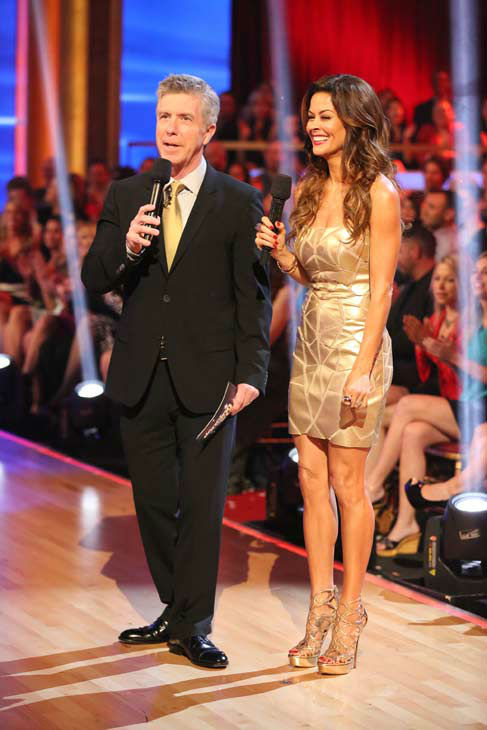 Tom Bergeron and Brooke Burke-Charvet appear on &#39;Dancing With The Stars&#39; on April 2, 2013. <span class=meta>(ABC Photo&#47; Adam Taylor)</span>