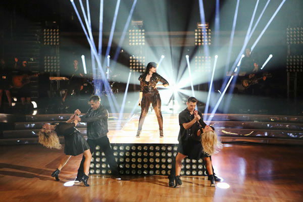 Demi Lovato returned to the ballroom on 'Dancing With The Stars: The Results Show' on April 2, 2013, to perform her latest single 'Heart Attack.'