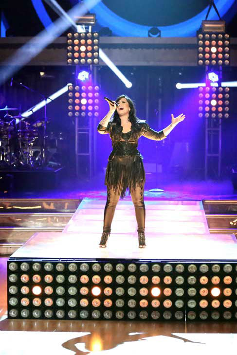 Demi Lovato returned to the ballroom on &#39;Dancing With The Stars: The Results Show&#39; on April 2, 2013, to perform her latest single &#39;Heart Attack.&#39; <span class=meta>(ABC Photo&#47; Adam Taylor)</span>