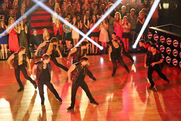 The male Pro and Troupe dancers of &#39;Dancing With The Stars&#39; performed a special routine on &#39;Dancing With The Stars: The Results Show&#39; on April 2, 2013. <span class=meta>(ABC Photo&#47; Adam Taylor)</span>