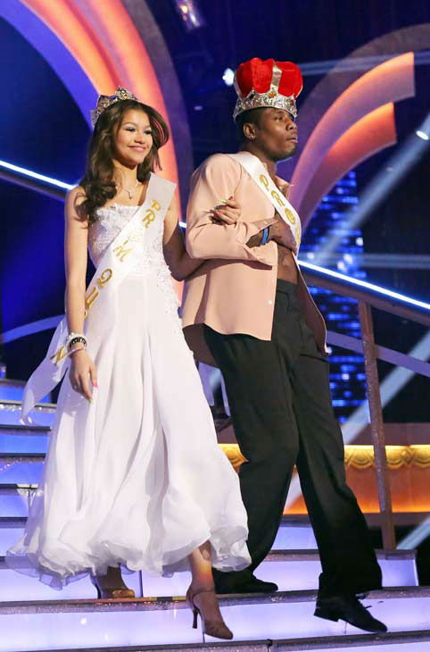 Zendaya Coleman and Jacoby Jones were named Prom Queen and King on &#39;Dancing With The Stars: The Results Show&#39; on April 2, 2013.  <span class=meta>(ABC Photo&#47; Adam Taylor)</span>