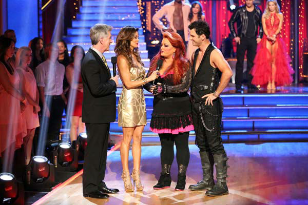 Singer Wynonna Judd and her partner Tony Dovolani react to being eliminated on &#39;Dancing With The Stars: The Results Show&#39; on April 2, 2013. The pair received 15 out of 30 points from the judges for their Cha Cha Cha on week three of &#39;Dancing With The Stars,&#39; which aired on April 1, 2013. <span class=meta>(ABC Photo&#47; Adam Taylor)</span>