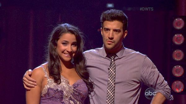 Olympic gold medalist and gymnast Aly Raisman and her partner Mark Ballas appear on the second results show for &#39;Dancing With The Stars&#39; season 16, which aired on Tuesday, April 2, 2013. They had received a total of 23 out of 30 points for their week 3 performance on Monday. <span class=meta>(ABC)</span>